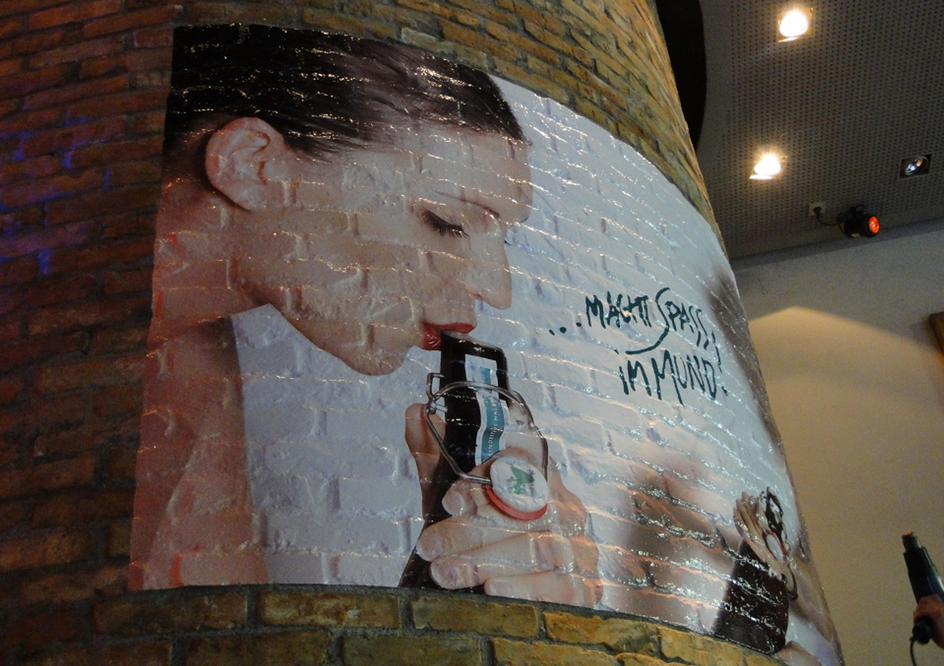 Brickwork wall graphic printing