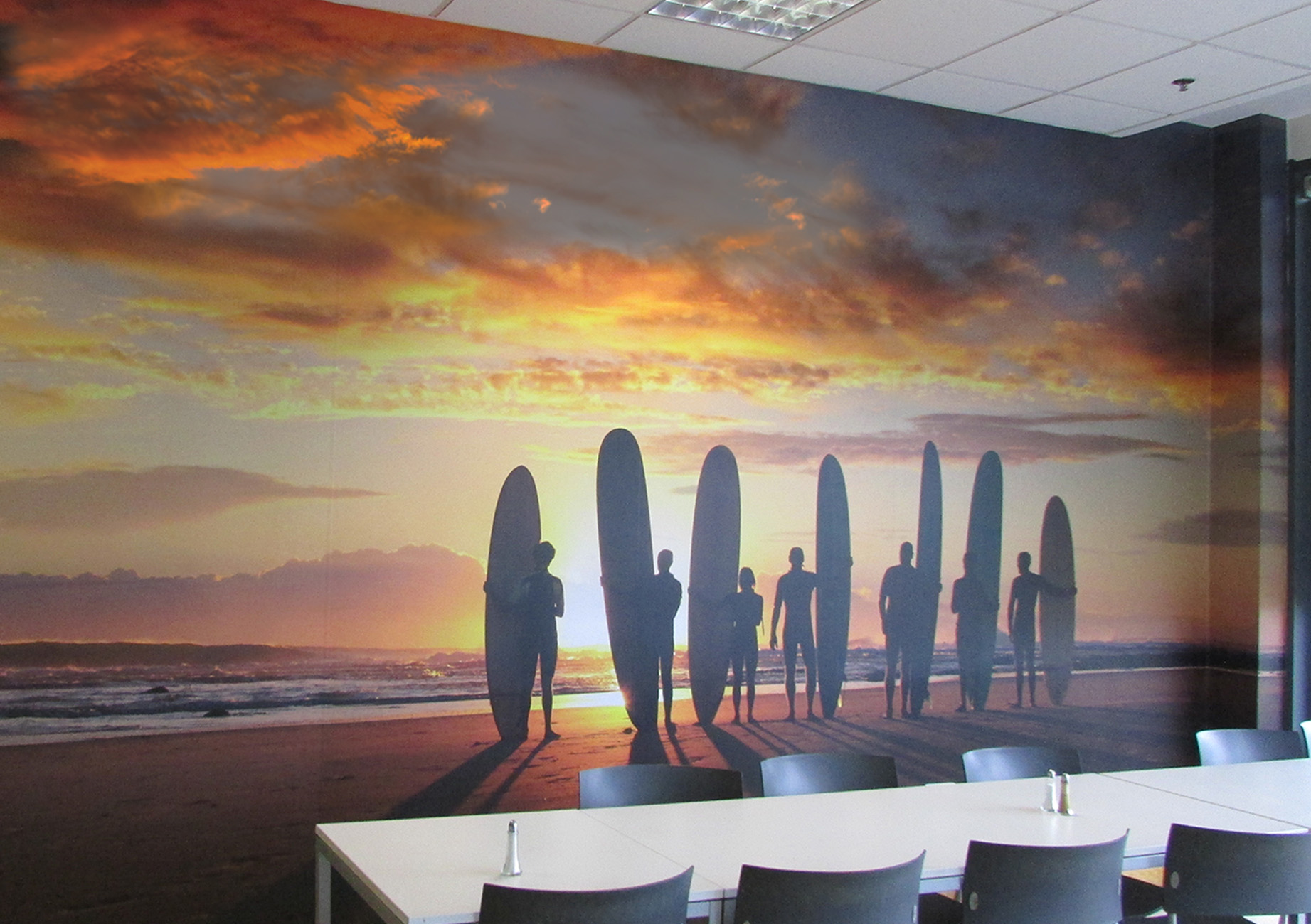 Canteen Wall Graphic Printing