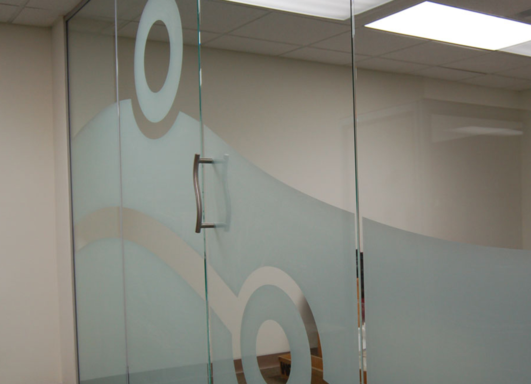 Decorative Glass Office Doors with side Panel