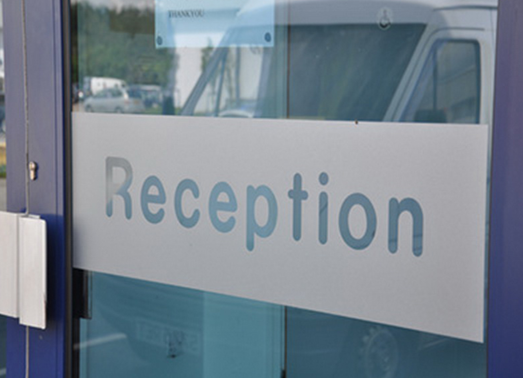 Reception Door Sign<