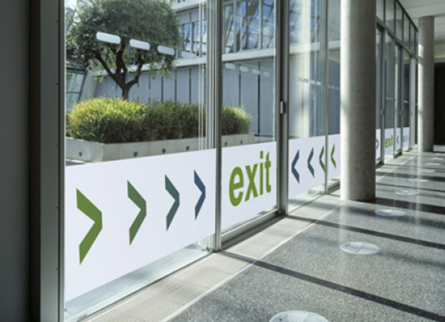 Printed Exit Sign in Colour