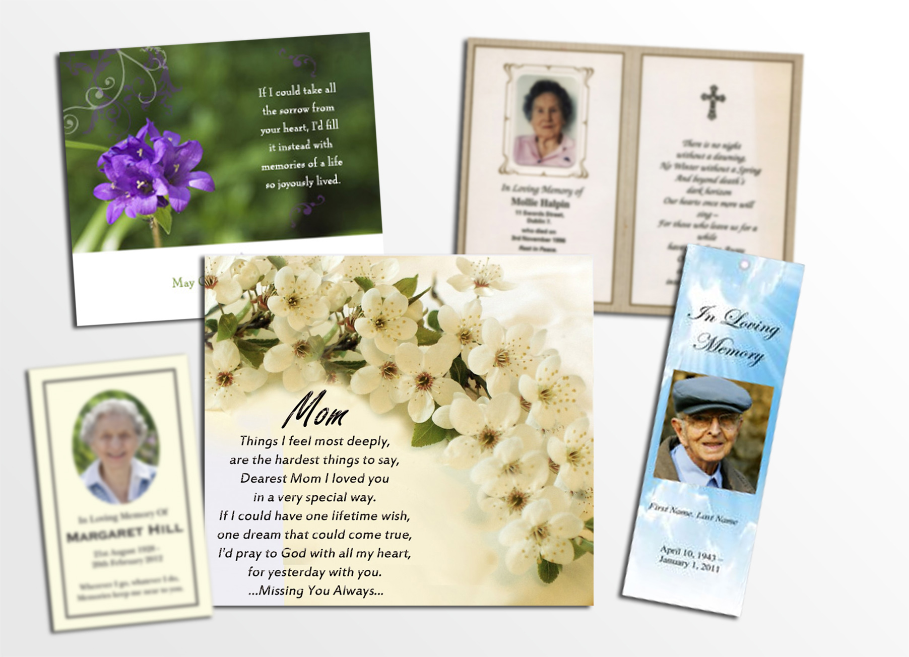 memorial cards, memoriam, rememberance cards